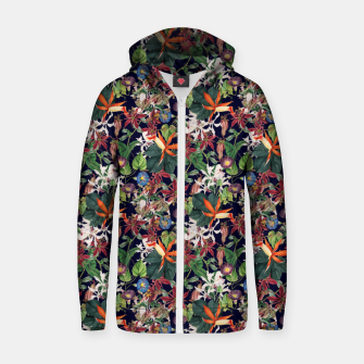 Botanical Flowers Zip up hoodie Bild der Miniatur