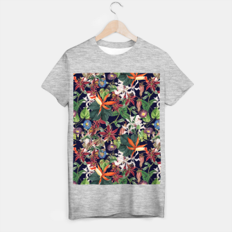 Botanical Flowers T-shirt regular Bild der Miniatur