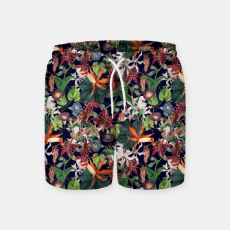 Botanical Flowers Swim Shorts Bild der Miniatur