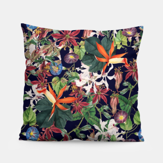Botanical Flowers Pillow Bild der Miniatur