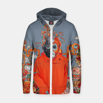 Thumbnail image of Flower power Zip up hoodie, Live Heroes