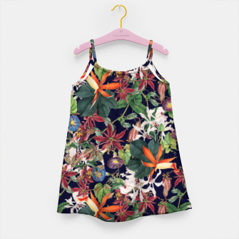 Botanical Flowers Girl's dress Bild der Miniatur