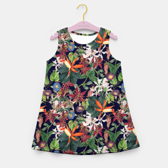Botanical Flowers Girl's summer dress Bild der Miniatur