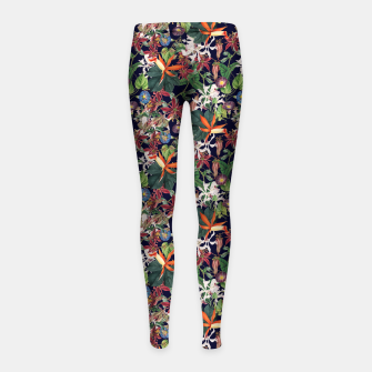Botanical Flowers Girl's leggings Bild der Miniatur