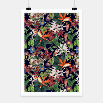 Miniatur Botanical Flowers Poster, Live Heroes