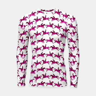 Thumbnail image of Showjumping Horse Sequence (Magenta) Longsleeve rashguard , Live Heroes