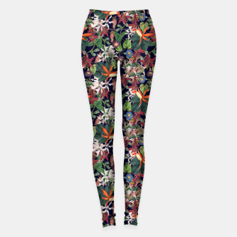 Botanical Flowers Leggings Bild der Miniatur