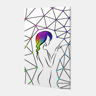 Thumbnail image of Colorful Girl Connection Canvas, Live Heroes
