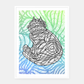 Thumbnail image of cat Framed poster, Live Heroes