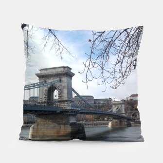 Thumbnail image of Budapest bridge Pillow, Live Heroes