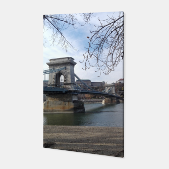Thumbnail image of Budapest bridge Canvas, Live Heroes