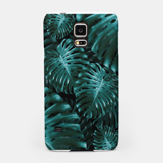 Thumbnail image of Tropical Monstera Jungle Night Leaves Pattern #1 #tropical #decor #art  Handyhülle für Samsung, Live Heroes