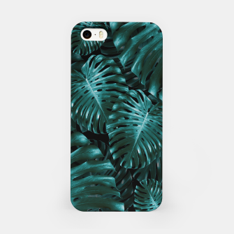 Thumbnail image of Tropical Monstera Jungle Night Leaves Pattern #1 #tropical #decor #art  iPhone-Hülle, Live Heroes