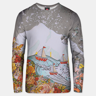 Wind blow Unisex sweater thumbnail image