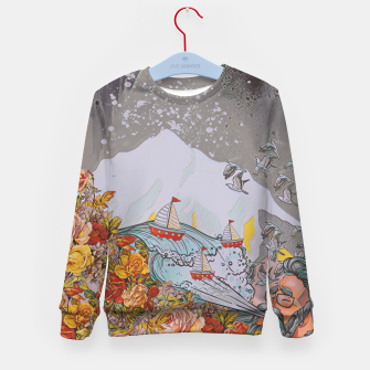 Thumbnail image of Wind blow Kid's sweater, Live Heroes