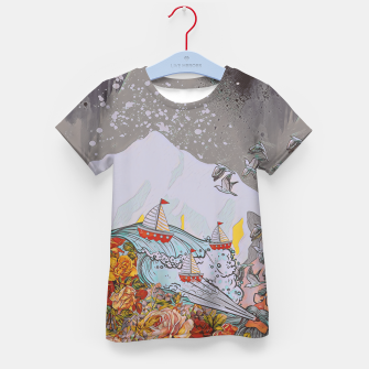 Thumbnail image of Wind blow Kid's t-shirt, Live Heroes