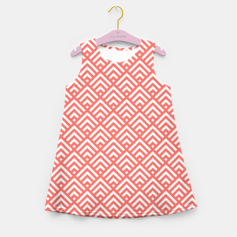 Thumbnail image of Living Coral Pattern II Girl's summer dress, Live Heroes