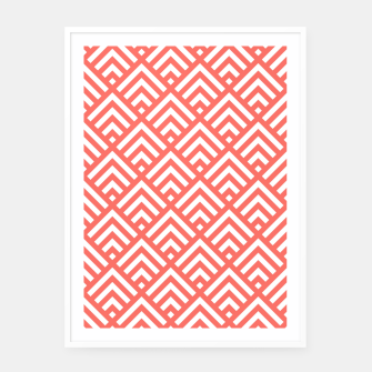 Thumbnail image of Living Coral Pattern II Framed poster, Live Heroes