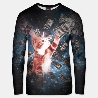 Thumbnail image of Galaxy Money Cat Unisex Sweater, Live Heroes