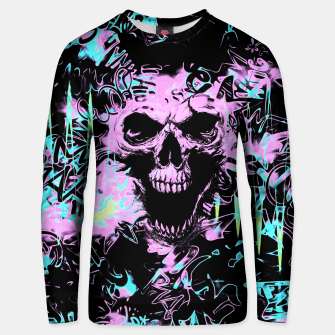 Miniatur Alternative Skull Graffiti Unisex Sweater, Live Heroes