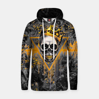 Thumbnail image of Black and Gold Graffiti Skull King Hoodie, Live Heroes