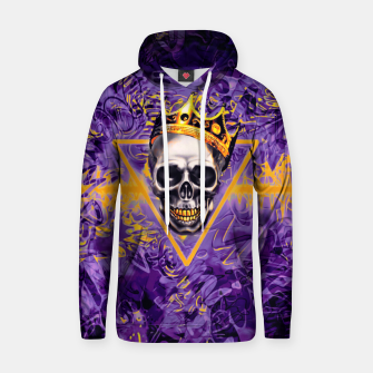 Thumbnail image of Purple and Gold Skull King Graffiti Hoodie, Live Heroes