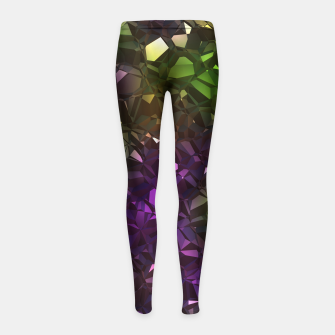 Thumbnail image of Christalline Rainbow Color - 01 Girl's leggings, Live Heroes