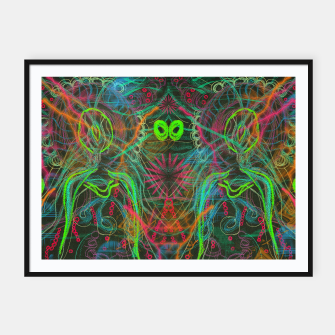 Imagen en miniatura de Dark Visions A Digitized (abstract, psychedelic, drawing) Framed poster, Live Heroes