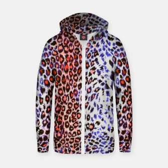 Thumbnail image of Leopard abstract Sudadera con capucha y cremallera , Live Heroes
