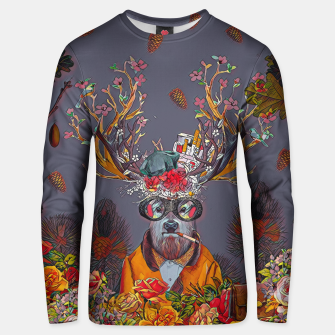 Thumbnail image of Floral deer Unisex sweater, Live Heroes