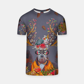 Thumbnail image of Floral deer T-shirt, Live Heroes