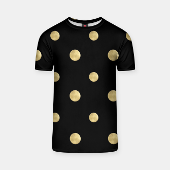 Thumbnail image of Happy Polka Dots Gold on Black #1 #decor #art  T-Shirt, Live Heroes