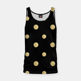Thumbnail image of Happy Polka Dots Gold on Black #1 #decor #art  Muskelshirt , Live Heroes