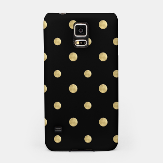 Thumbnail image of Happy Polka Dots Gold on Black #1 #decor #art  Handyhülle für Samsung, Live Heroes