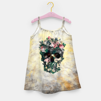 Rose Garden Skull Girl's dress Bild der Miniatur