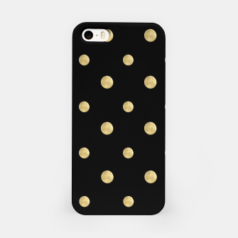 Thumbnail image of Happy Polka Dots Gold on Black #1 #decor #art  iPhone-Hülle, Live Heroes