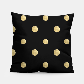 Thumbnail image of Happy Polka Dots Gold on Black #1 #decor #art  Kissen, Live Heroes