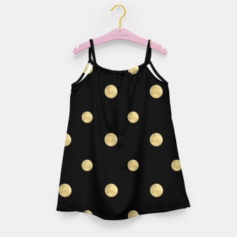 Thumbnail image of Happy Polka Dots Gold on Black #1 #decor #art  Mädchenkleid, Live Heroes