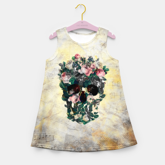 Rose Garden Skull Girl's summer dress Bild der Miniatur