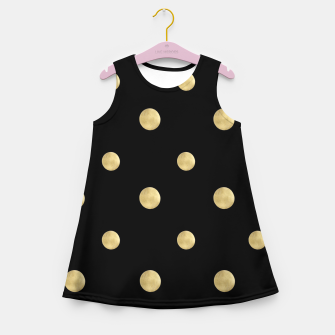 Thumbnail image of Happy Polka Dots Gold on Black #1 #decor #art  Mädchen-Sommerkleid, Live Heroes