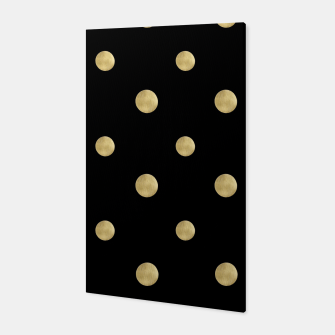 Thumbnail image of Happy Polka Dots Gold on Black #1 #decor #art  Canvas, Live Heroes