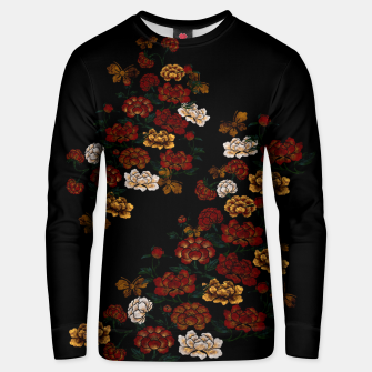 Thumbnail image of Peony and Butterfly emblem Unisex sweater, Live Heroes