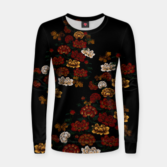Thumbnail image of Peony and Butterfly emblem Women sweater, Live Heroes