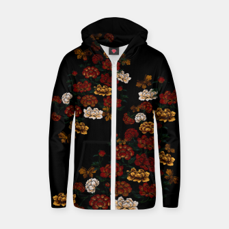 Thumbnail image of Peony and Butterfly emblem Zip up hoodie, Live Heroes