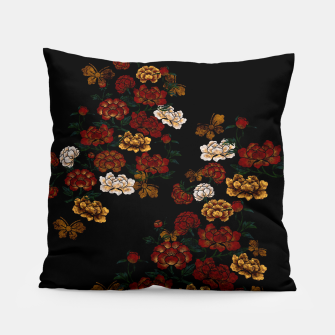 Thumbnail image of Peony and Butterfly emblem Pillow, Live Heroes