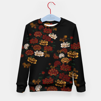 Thumbnail image of Peony and Butterfly emblem Kid's sweater, Live Heroes
