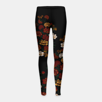 Thumbnail image of Peony and Butterfly emblem Girl's leggings, Live Heroes