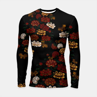 Thumbnail image of Peony and Butterfly emblem Longsleeve rashguard , Live Heroes
