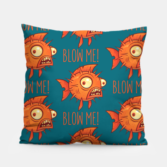 Miniaturka Blow Me Porcupine Blowfish Pillow, Live Heroes
