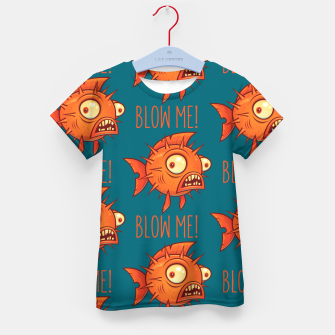 Miniaturka Blow Me Porcupine Blowfish Kid's t-shirt, Live Heroes